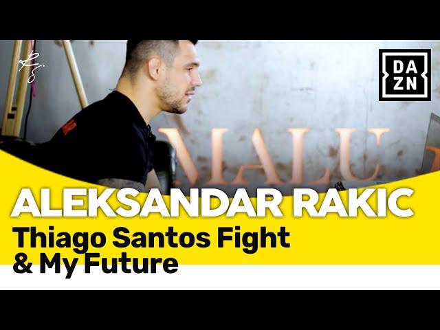 Aleksandar Rakic im DAZN Interview nach dem Thiago Santos Fight März 2021 (mit Untertiteln)