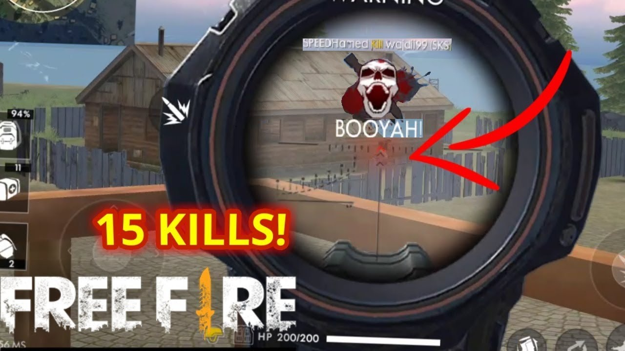 15 KILLS ! HEROIC RANK!! BEST PLAYER!! - Free Fire Battlegrounds