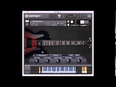 kontakt evolution electric guitar strawberry youtube. Black Bedroom Furniture Sets. Home Design Ideas