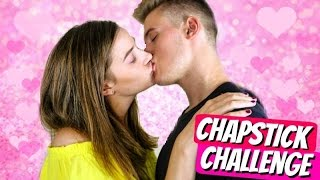 THE CHAPSTICK KISSING CHALLENGE!!!