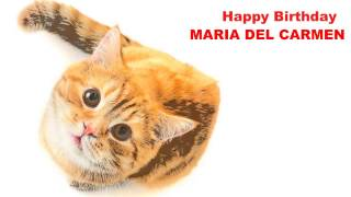 MariadelCarmen   Cats Gatos - Happy Birthday