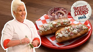 Anne Burrell Makes a Lobster Roll with Slaw | Worst Cooks in America