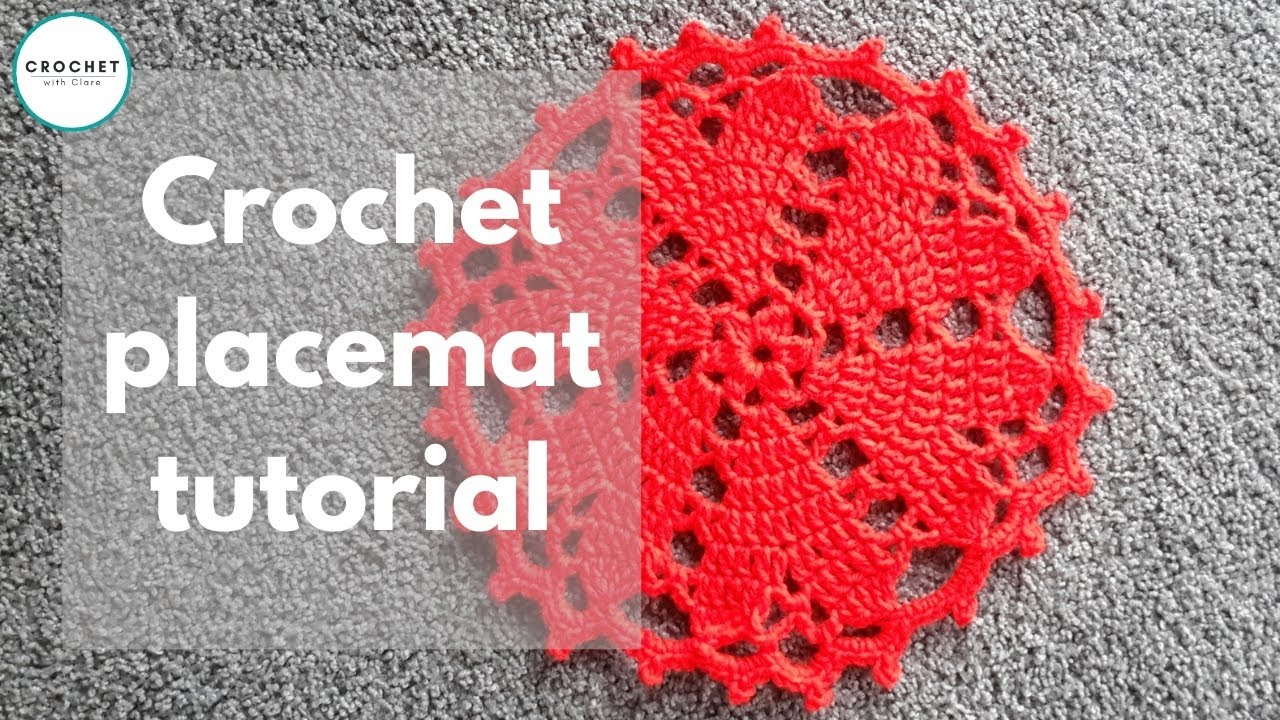 Crochet Floor Rug / Doily Heart