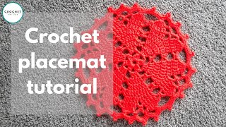 Crochet Floor Rug / Doily Heart Valentines Tutorial