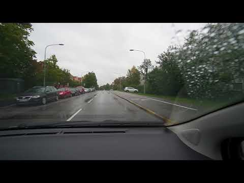 Sweden, Stockholm, driving from bus stop Häradsvägen to Mälarhöjden subway station