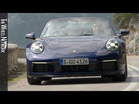 2020 Porsche 911 Carrera 4S Cabriolet   Gentian Blue Metallic   Driving, Interior, Exterior