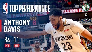 Anthony Davis Continues His STRONG Play Against The Celtics
