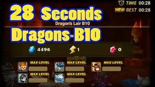 Summoners War - 28 Sec Dragons B10 - Vanessa MVP
