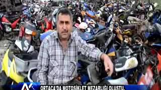 AYTV AYDIN Ortaca'da Motosiklet Mezarlığı Oluştu