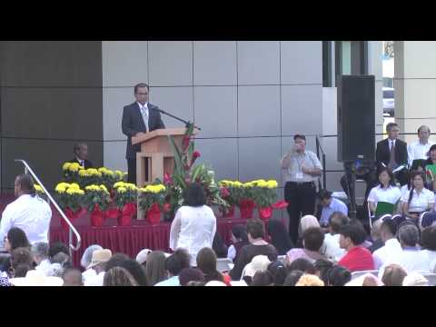 First Mass at Christ Cathedral, Garden Grove, Orange County, California 2013 - P1