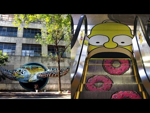 Amazing Street Arts You Won't Believe They Aren't Real ᴴᴰ █▬█ █ ▀█▀
