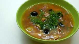Вкусно и просто: Мясная солянка. Пошаговый рецепт с видео.