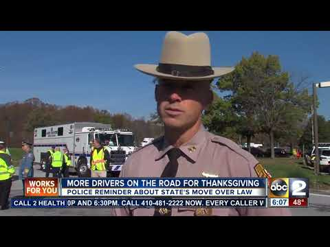 Police emphasize move over law ahead of busy holiday travel season