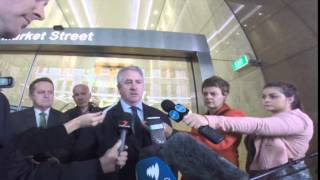 Dave Noonan outside the Trade Union Royal Commission speaks to media 2/9/14