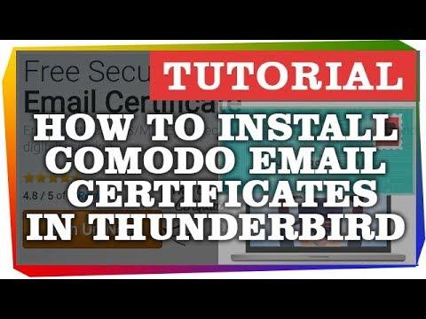 How to Install Comodo Email Certificate in Thunderbird Ubuntu ...