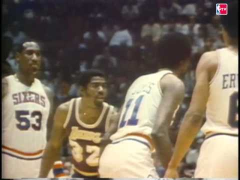 Magic Johnson Plays Center in 1980 Finals