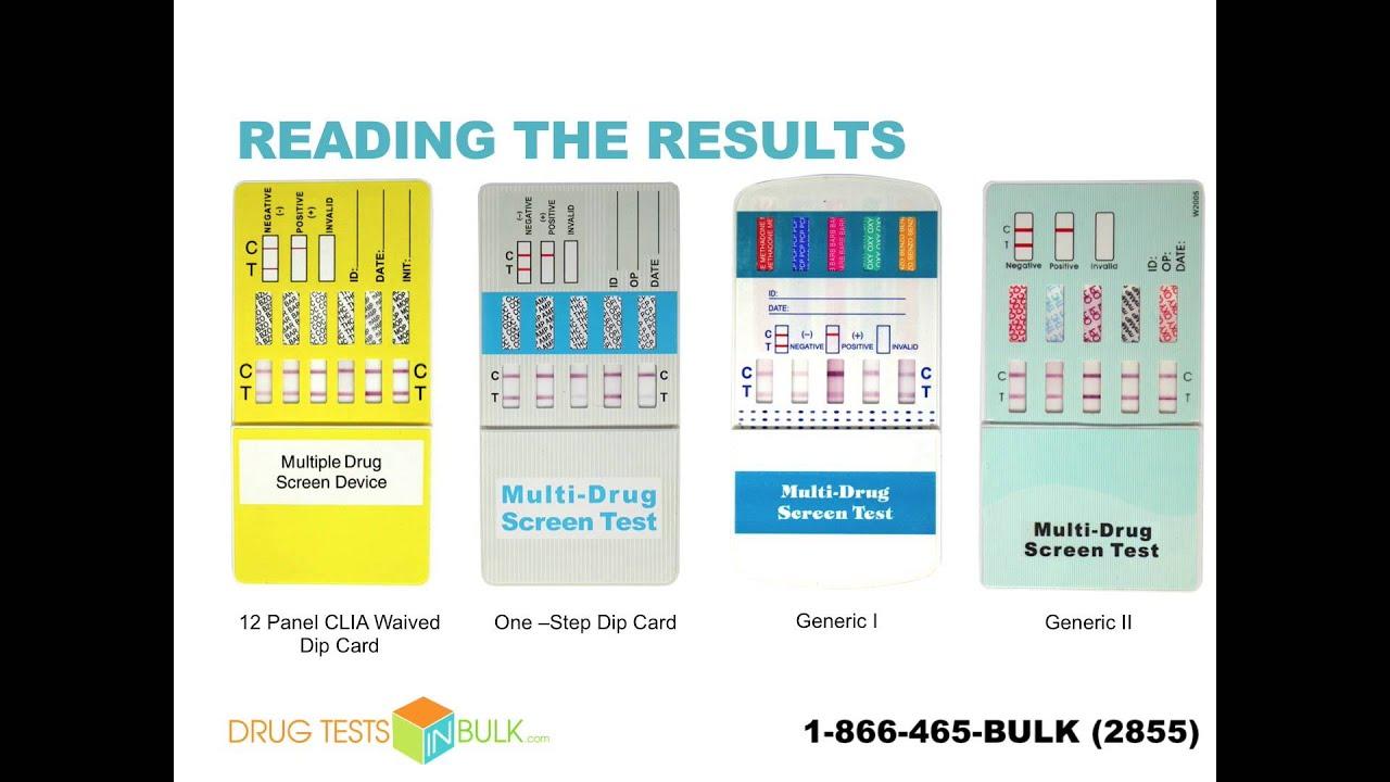 One Step Multi Drug Urine Test Panel Youtube