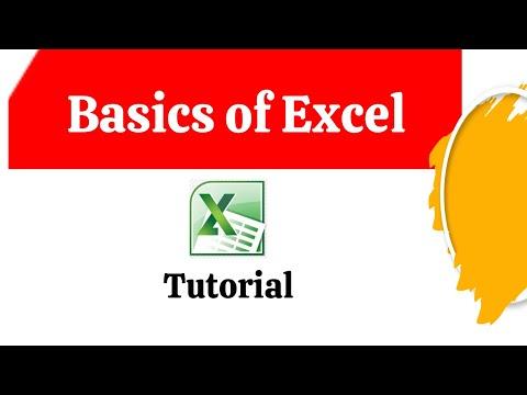 Basics Of Excel -Tutorial For Beginner Excel