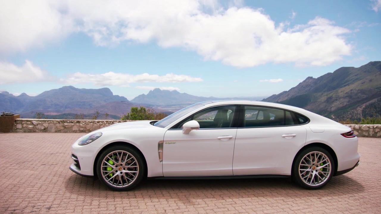 porsche panamera 4 e hybrid executive carrara white exterior design automototv