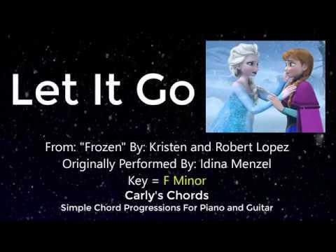 Let It Go Frozen Chords Key F Min Youtube