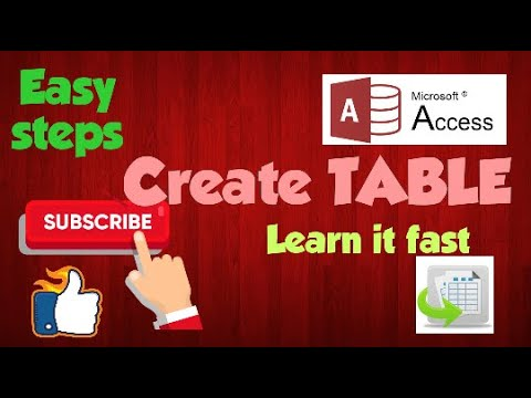 Learn fast.Create Table in Access,Easy steps.