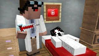 Доктор Нуб делает операцию Слендерина в Майнкрафт ! Операция мобу в больница нуба MInecraft