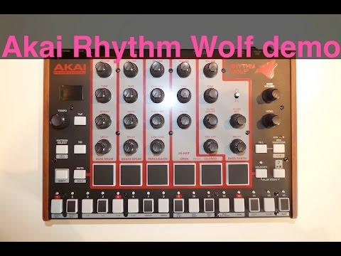 Akai Rhythm Wolf raw sound demo