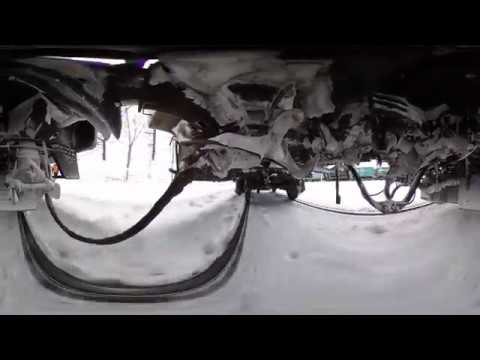 360º Video  - Trans Siberian Express in winter UNDER the Train