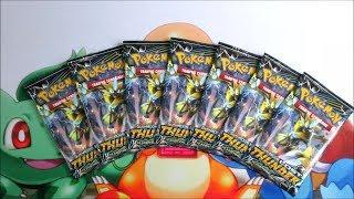 Pokemon TCG Opening Seven Lost Thunder Zeraora GX Booster Packs