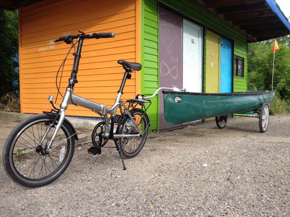 Bicycle Canoe Trailer Youtube