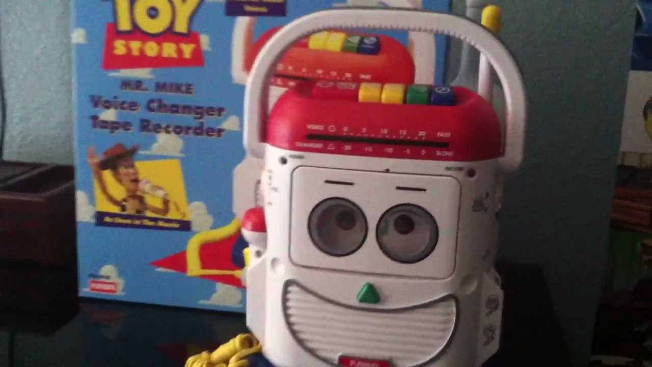 My Toy Story Collection Mr. Mike Voice Changer & Tape Recorder By Playskool - YouTube