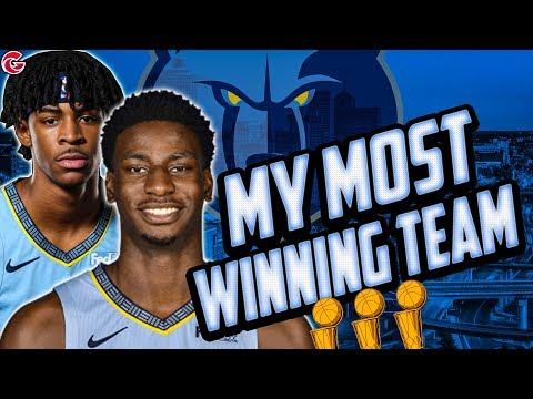 MY MOST WINNING TEAM! MEMPHIS GRIZZLIES REBUILD! NBA 2K20
