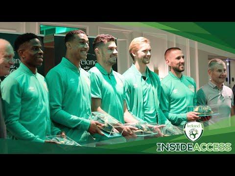 INSIDE ACCESS | Ireland legend Denis Irwin joins squad for Cap Presentation Ceremony