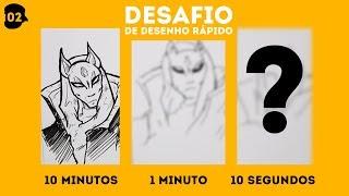 DESAFIO DE DESENHO RÁPIDO #2 - FORTNITE (ATEMPORAL 5ª TEMPORADA)