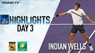 Highlights: Federer Faces Delbonis, Verdasco Advances Indian Wells 2018