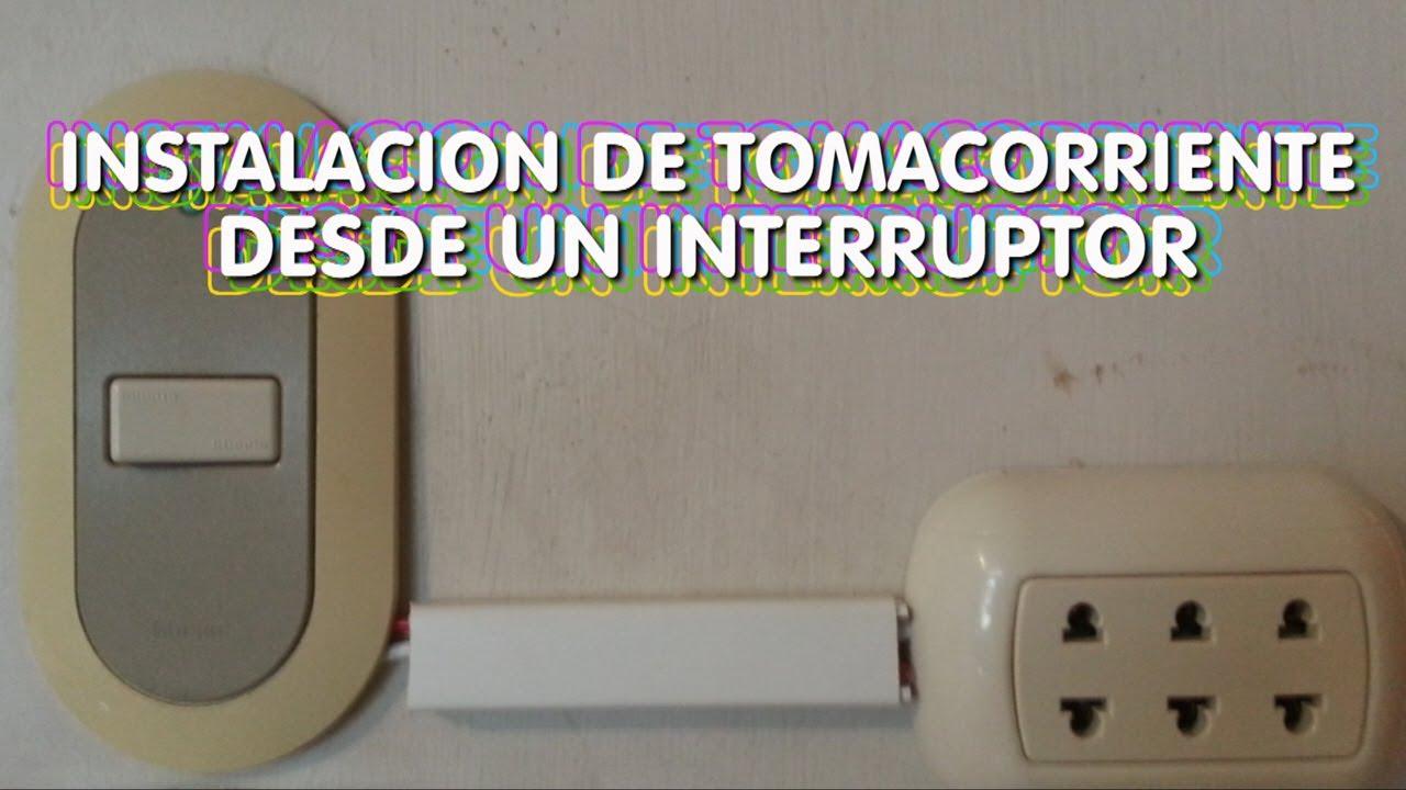Instalacion electrica de tomacorriente desde un for Como instalar un enchufe