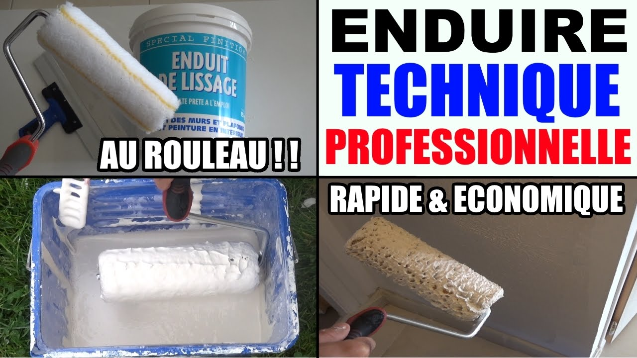 Enduire un mur int rieur technique professionnelle youtube for Enduit mur parpaing interieur