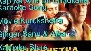 Aap Ka Aana Dil Dhadkana Karaoke HQ|Kumar Sanu