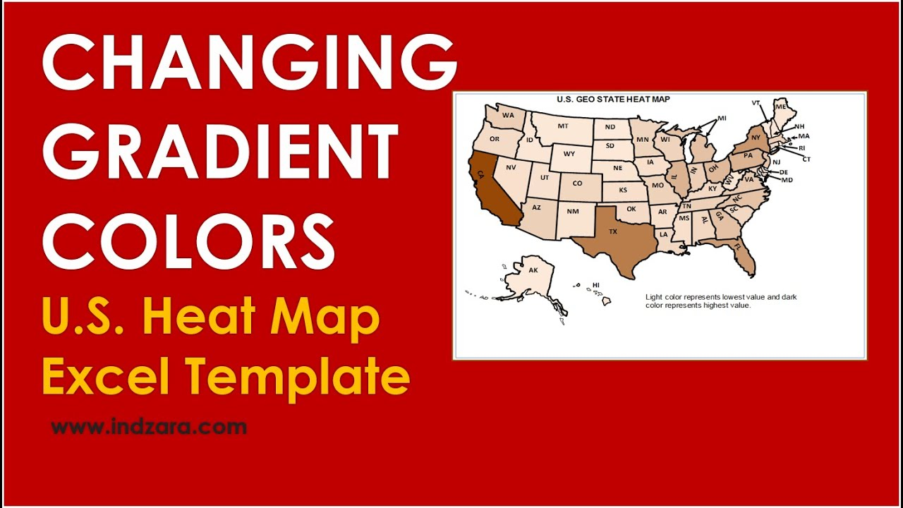 Us Geographic State Heat Map Excel Template Globalinterco - Us map gradient generator