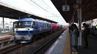 JR貨物山陽本線貨物列車通過(明石)