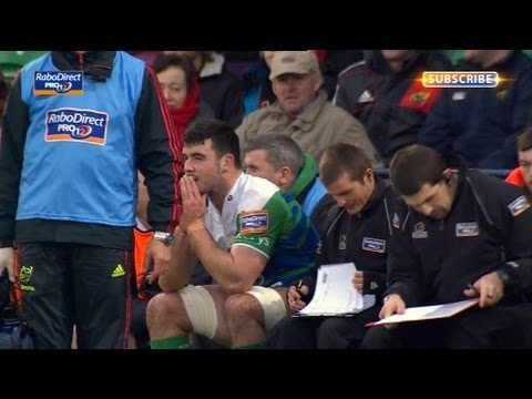 Mick Kearney, late shoulder charge on ROG, Yellow Card - Munster V Connacht 23rd March 2013