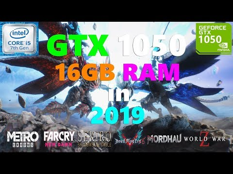 GTX 1050 + 16GB RAM Test in 9 Games in 2019