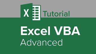 Excel VBA Advanced Tutorial
