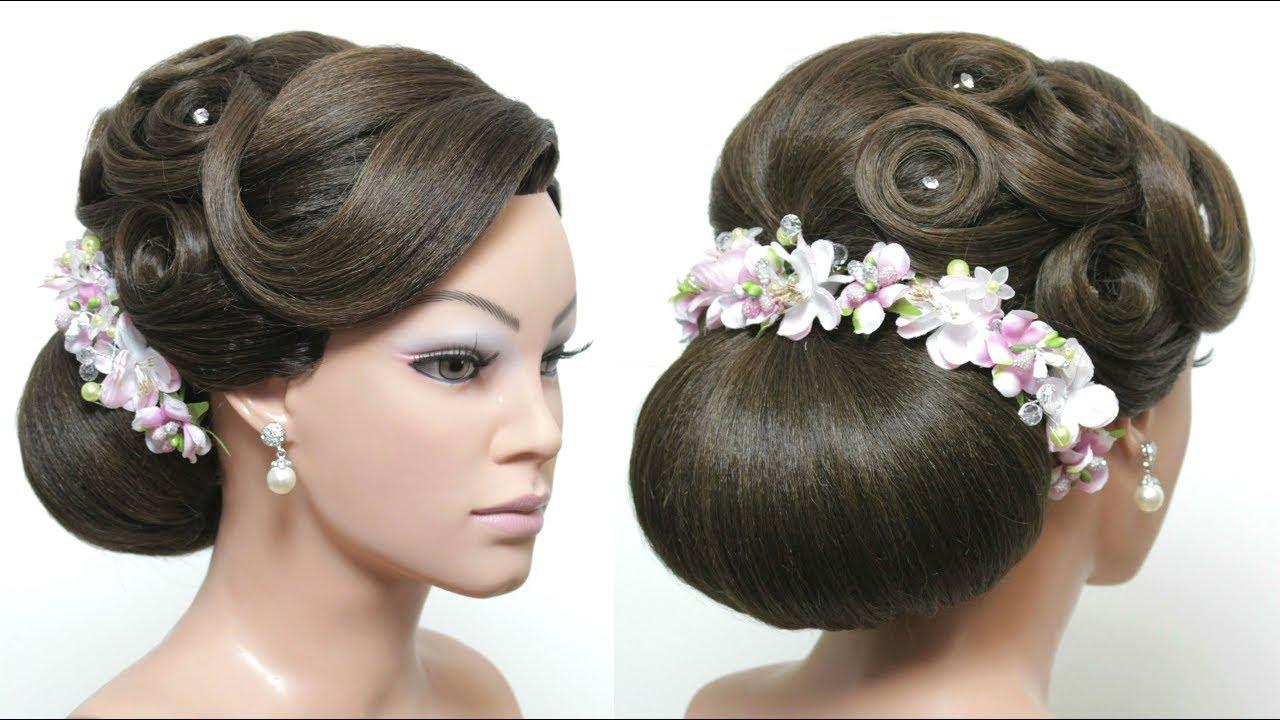 30 Beautiful Wedding Hairstyles: Beautiful Wedding Low Bun Hairstyle For Long Hair