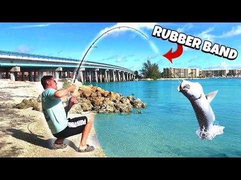 EXTREME CANE POLE FISHING CHALLENGE!!