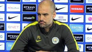 Pep Guardiola Pre-Match Press Conference - Manchester City v Manchester United - Embargo Extras