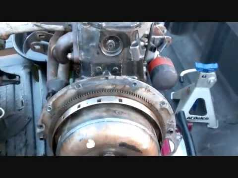 How to remove engine with seized torque converter and flywheel - YouTube