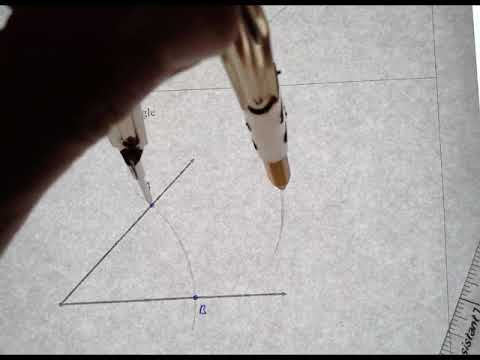 Geometry Constructions: Bisect Acute Angle