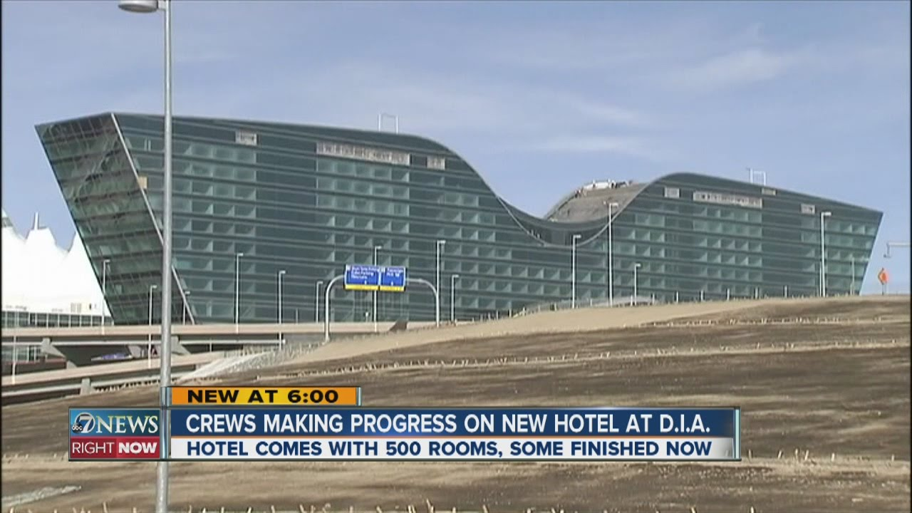 crews making progress on new hotel at dia youtube. Black Bedroom Furniture Sets. Home Design Ideas