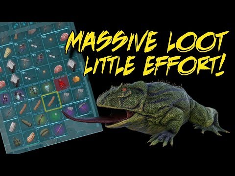 Free Loot, using traps to harvest people of their gear - Ark Survival Evolved